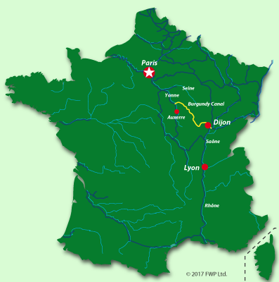 Maps of the Burgundy canal