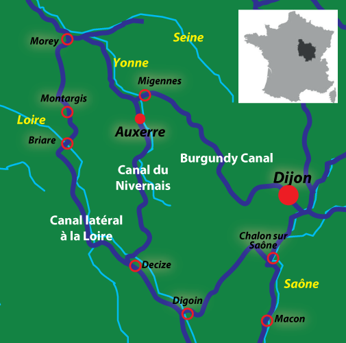 Burgundy Canals in France