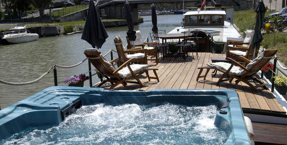 On the sun deck