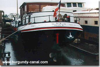 Dry dock at Saint Jean de Losne