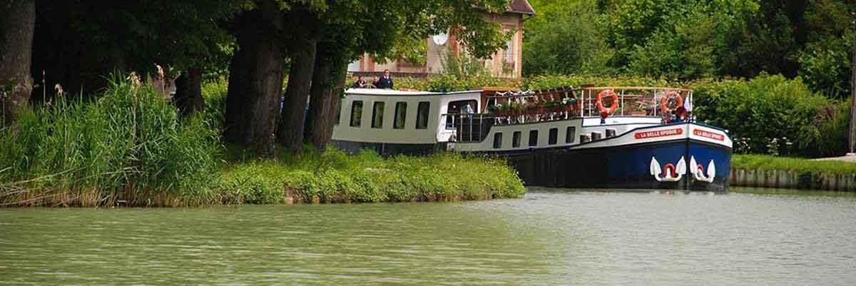 A nostalgic and stylish barge trip