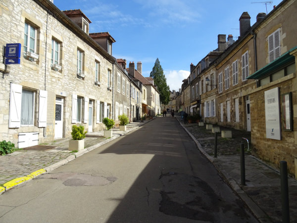Walking up the main street to the Basillica Vezelay
