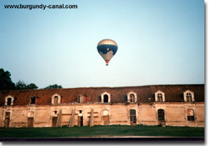 Balloon take-off from Chateau Tanlay