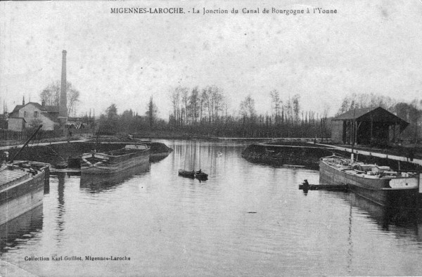The  river Yonne, Migennes